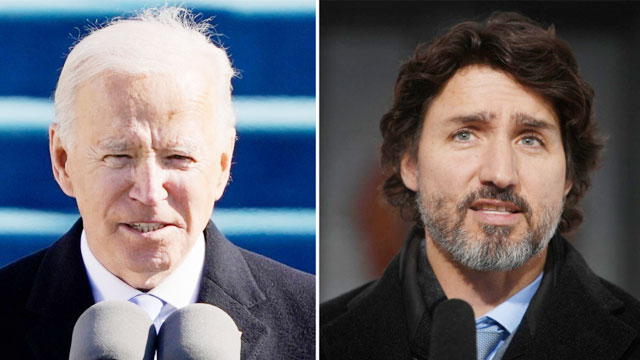 Canadian Prime Minister gets call from President Biden