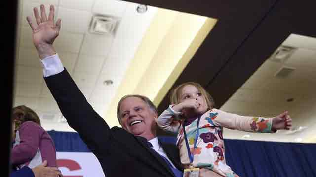 Democrats triumph over Roy Moore in major blow to Trump
