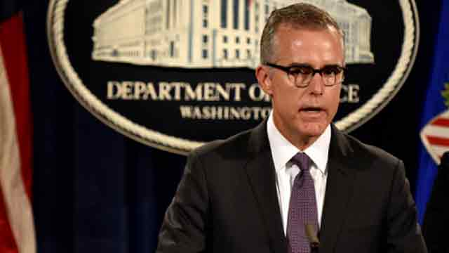 FBI's Andrew McCabe fired days before retirement