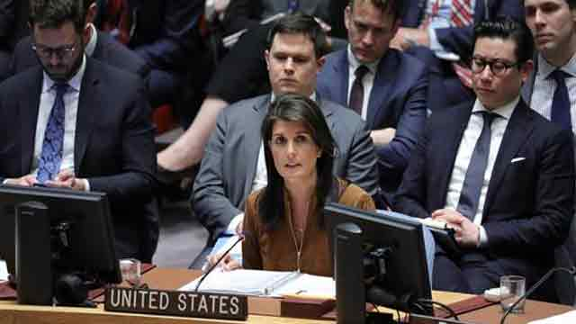Haley's remarks at UNSC briefing on Chemical weapons use in Syria