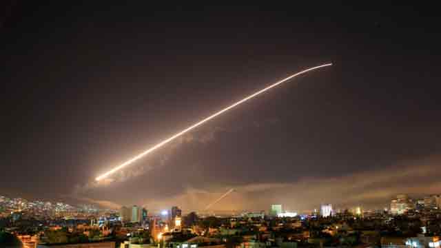 US, UK, France launch strikes on Syria