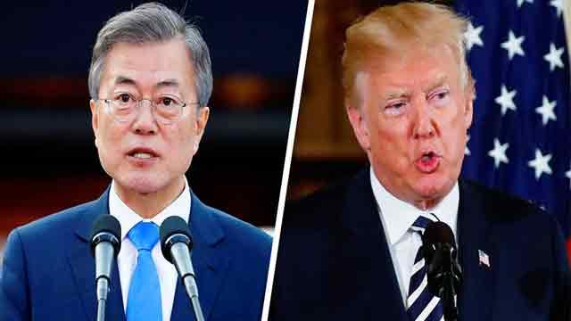 Trump, Moon discuss NKorea's threat to scrap summit