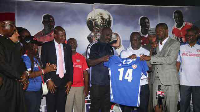 President Weah makes surprise football return
