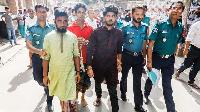 3 remanded over Badda woman lynching