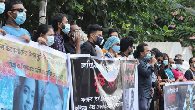 Stamford University students protest unlawful arrest of Sifat, Shipra