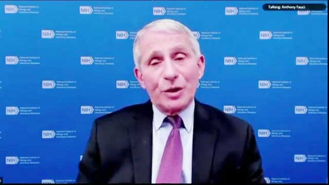 Low level test positivity a hope for returning normalcy, Dr. Fauci tells JustNewsBD