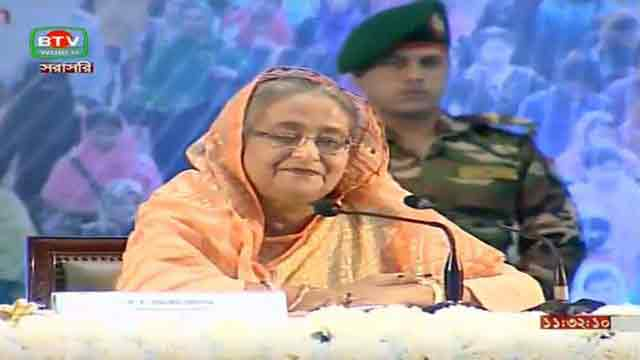 Hasina opens works on Mirsarai Economic Zone