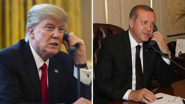 Trump speaks with Erdogan