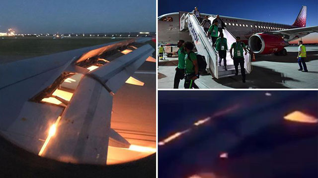 Engine catches fire on Saudi team plane