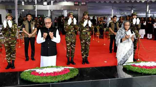 President, PM pay homage to Sheikh Mujib