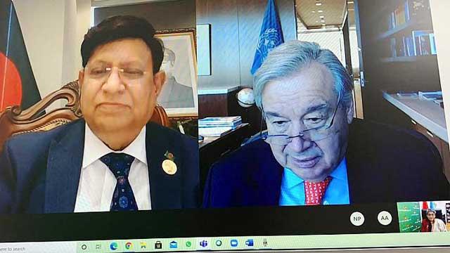 UN chief lauds Bangladesh's Covid mitigation efforts
