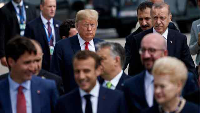 Trump urges NATO to double military spending