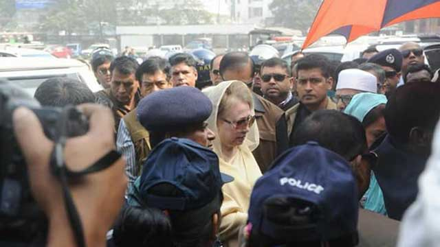 Khaleda Zia appears before court; hearing to resume on Jan 3