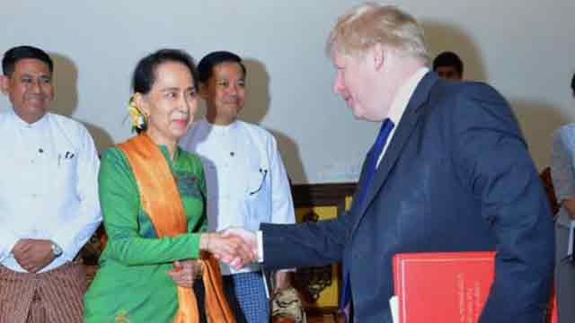 Johnson meets Suu Kyi on Rohingya crisis