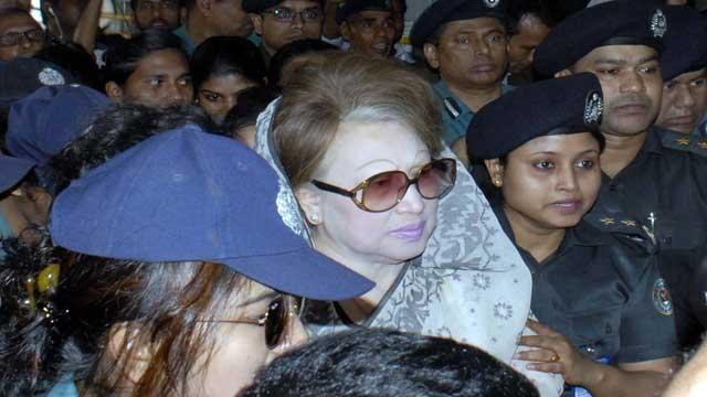 খালেদা জিয়ার সাজার আবেদন শুনানি রবিবার পর্যন্ত মুলতবি