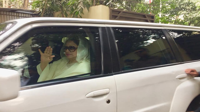 Khaleda Zia on way to Sylhet