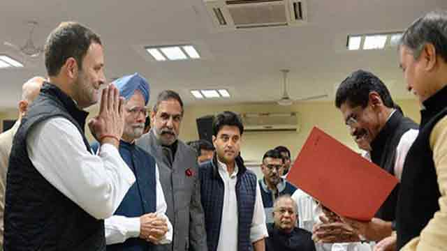 Rahul files nomination to succeed Sonia Gandhi as Congress president