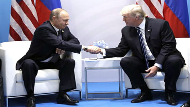 Trump and Putin in face to face meeting
